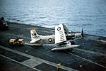 A-1H Skyraider of VA-196 on USS Bon Homme Richard (CVA-31) c1965.jpg