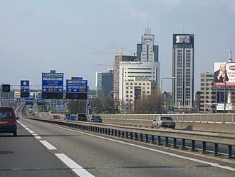 A16 motorway (Netherlands) - Northbound express (l) and local (r) lanes
