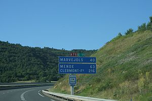 A75 autoroute - Image: A75autoroute