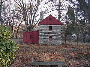 Caleb Pusey House - The Pennock log house, located opposite the Caleb Pusey house, was built in 1790 by Pusey's great-great-granddaughter