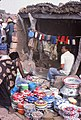 ASC Leiden - W.E.A. van Beek Collection - Dogon markets 17 - Enamel pots and pans at Sangha market, Mali 1992.jpg