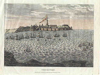 Kanhoji Angre - A British-Portuguese-Indian naval force attacks the fort of Geriah, 1756