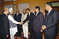 A Mauritian parliamentary delegation called on the Prime Minister, Dr. Manmohan Singh, in New Delhi on October 14, 2008.jpg