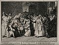 A Portugese Jewish circumcision ceremony. Engraving, 1741, a Wellcome V0016781.jpg