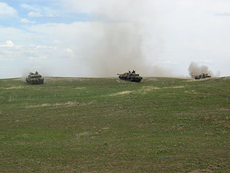 Armoured regiment (United Kingdom) - A Troop of Challenger 2s from the RDG on exercise in Canada