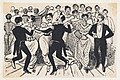 A dance with men in dresses and suits from a broadside entitled 'Los 41 maricones encontrados en un baile de la Calle de la Paz el 20 de Noviembre de 1901' MET DP869354.jpg