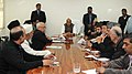 A delegation of Muslim clergies and social leaders meeting the Union Home Minister, Shri Rajnath Singh, in New Delhi on February 02, 2016.jpg