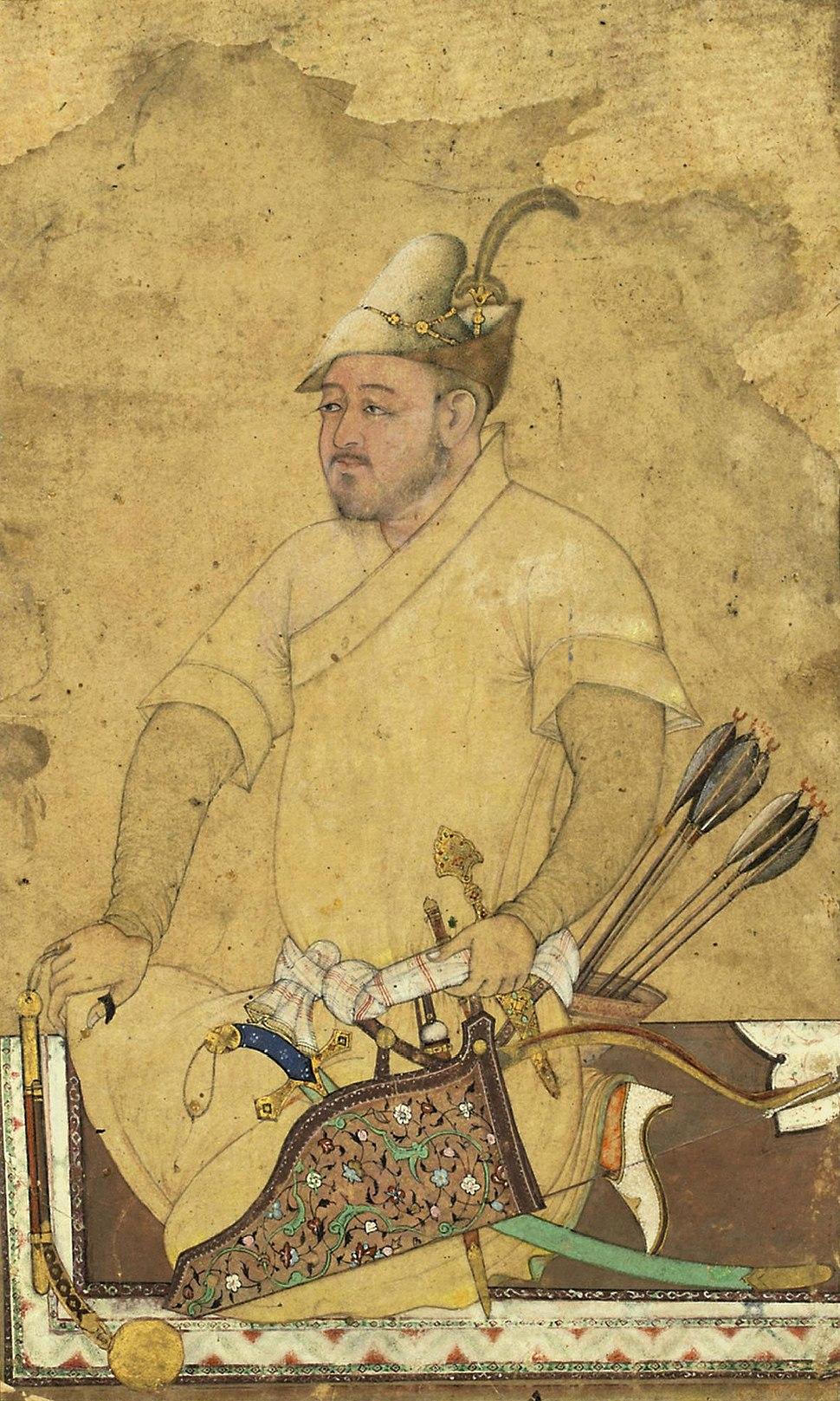 A heavily armed Uzbek, Safavid Iran, mid 16th century