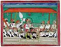 A maharana smoking his hookah in durbar (6124556467).jpg