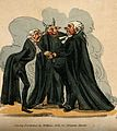 A physician, a lawyer and a vicar; represented as outlandish Wellcome V0010905.jpg
