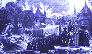 Siege of Bredevoort (1597) - English troops attacking the Alter gate