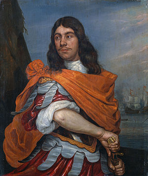 Orangism (Dutch Republic) - Cornelis Tromp by Abraham Evertsz. van Westerveld (ca. 1666). Tromp is pictured in Roman costume. His orangist sympathies are reflected by the color of his mantle.