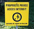 Accès interdit, Avenue Charlotte - Kräizgaass, Déifferdeng.jpg