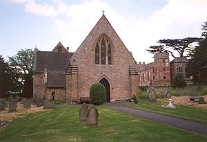 Grade I listed buildings in Shropshire - Image: Acton Burnell Church and Castle geograph.org.uk 65848