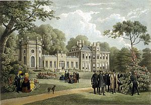 Orleans House - Johnston's Twickenham house in 1844