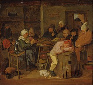 Staatliches Museum Schwerin - Image: Adriaen Brouwer The slaughter feast
