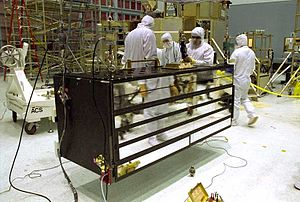 Advanced Camera for Surveys - The Advanced Camera for Surveys in the clean room at the Goddard Space Flight Center, prior to its installation on the Hubble Space Telescope