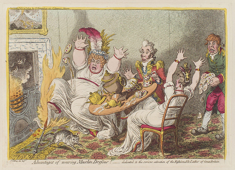 File:Advantages of wearing muslin dresses! by James Gillray.jpg