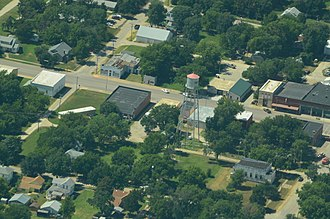 Hope, Kansas - Aerial photo of Hope (2013)