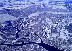 Aerial photo of Laval