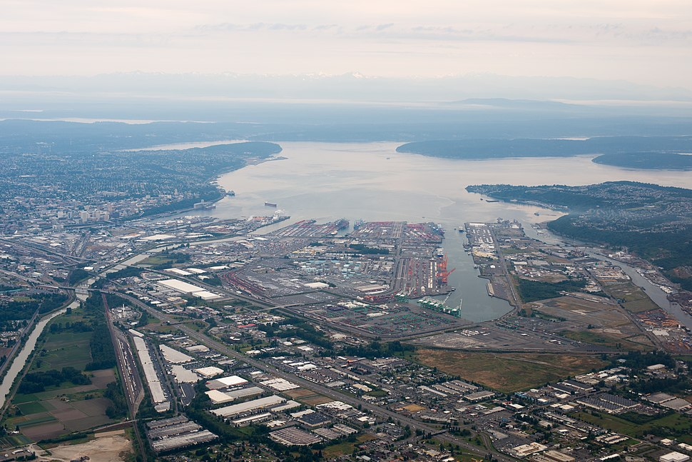 Aerial photo of Port of Tacoma