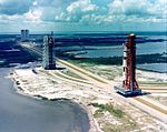 Aerial view of Apollo 4 rollout.jpg