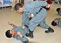 Afghan police NCOs demonstrate self-defense moves at Kandahar Regional Training Center 3.jpg