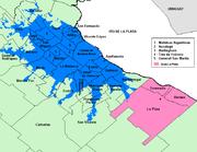 La ciudad y sus funciones 2: Mapas/imágenes de Argentina y Buenos Aires en . aglomerado gran buenos aires