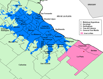 In blue color Buenos Aires, Argentina, where Cocoliche developed.