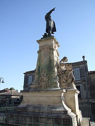 Aigues-Vives, Gard - Monument to Émile Jamais