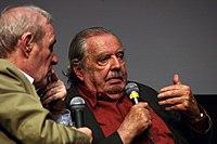 Alain Tanner répondant à André S. Labarthe à la Cinémathèque française.JPG