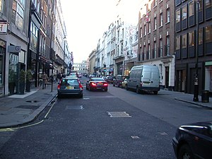 Albemarle Street - Northward view of Albemarle Street, from the Stafford Street junction.