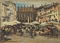 Albert Kappis - Piazza delle Erbe in Verona - 8927 - Bavarian State Painting Collections.jpg