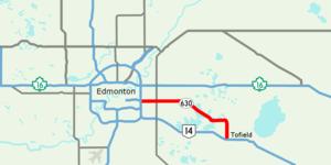 Alberta Highway 630 - Image: Alberta Highway 630 Map