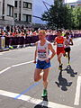 Aleksey Reunkov (Russia), Guojian Dong (China) and Daniel Vargas (Mexico) - London 2012 Men's Marathon.jpg