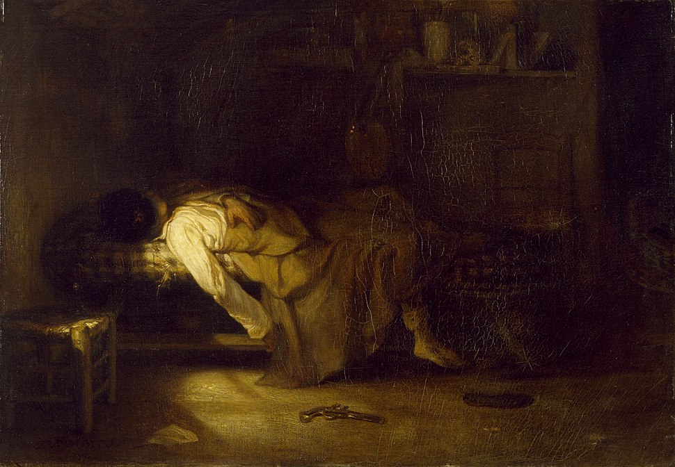 Alexandre-Gabriel Decamps - The Suicide - Walters 3742