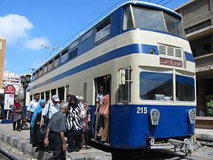 Double-decker tram - Alexandria double-deck tram