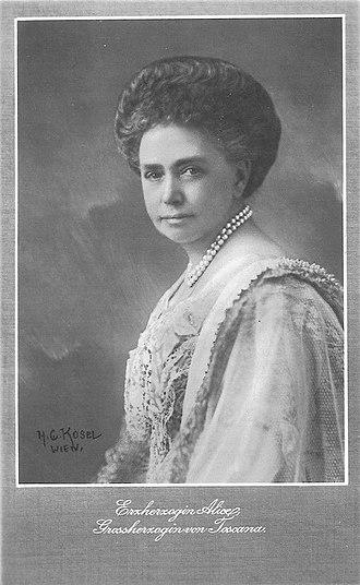 Princess Alice of Parma (1849–1935) - Image: Alice di Borbone Parma 1849 1935