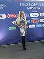 Alina Grosu at FIFA Fan Fest 2018 in Moscow.jpg
