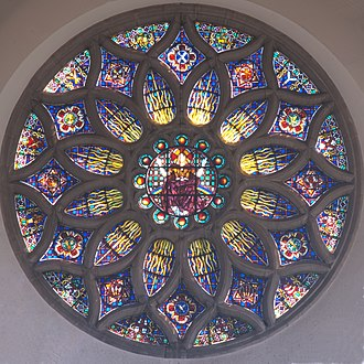 Hugh Ray Easton - Rose window, All Saints' Church, Hockerill