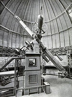 Allegheny Observatory - Photographic telescope at the Allegheny Observatory took 10 years to build, circa 1914