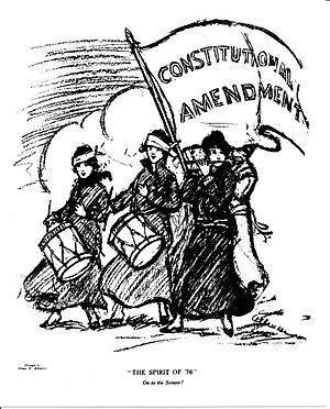 "Nina E. Allender - ""The Spirit of '76.' On to the Senate!"", 1915"