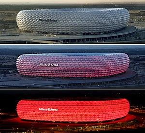 Allianz Arena zu verschiedenen Zeiten