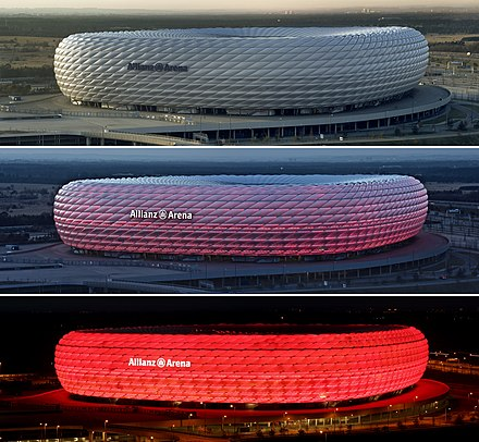 Allianz Arena, the home stadium of Bayern Munich