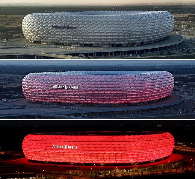 Файл:Allianz Arena zu verschiedenen Zeiten.jpg