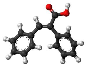 Alpha-Phenylcinnamic acid - Image: Alpha Phenylcinnamic acid 3D balls