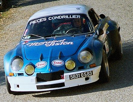Renault Alpine A110, first Champion of the World Rally Championship. Alpine A110 1800 Group IV.JPG