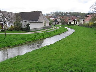 Altenau (Alme) River in Germany