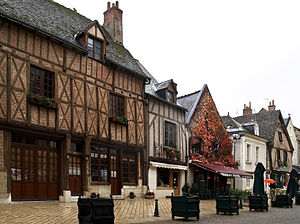 Amboise - Timber-framed houses in Amboise.