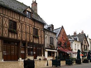 Amboise - Timber-framed houses in Amboise.